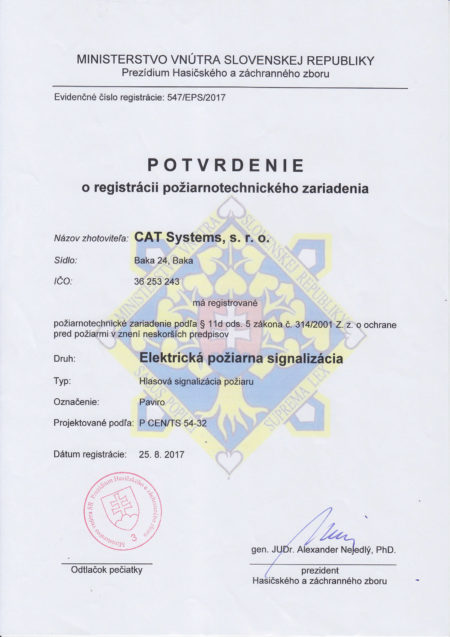 Potvrd O Reg Poziarnotechn
